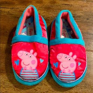 Peppa Pig Pink Slippers for Toddlers and Little Girls; Polka Dot and Big Head
